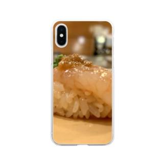おけい甘エビ Soft clear smartphone cases
