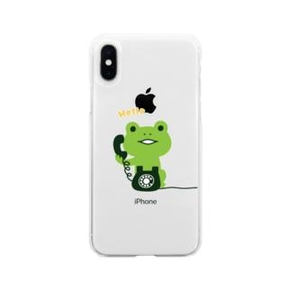 かえるコール Soft clear smartphone cases