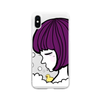 bath time Soft clear smartphone cases