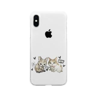 チコサリーちゃん Soft clear smartphone cases