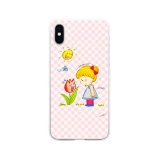 チューリップさんがしゃべってる!? Soft clear smartphone cases