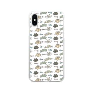 近所のねこたち Soft clear smartphone cases