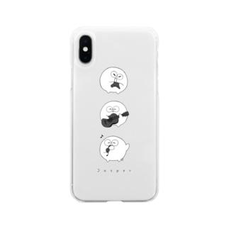 【期間限定】じゃすマホケース(縦) Soft clear smartphone cases