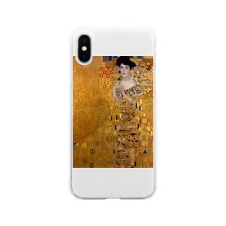 グスタフ・クリムト(Gustav Klimt) / 『アデーレ・ブロッホ=バウアーの肖像 I』(1907年) Soft Clear Smartphone Case
