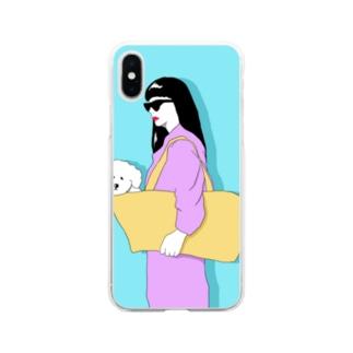 ビションフリーゼ3 Soft clear smartphone cases