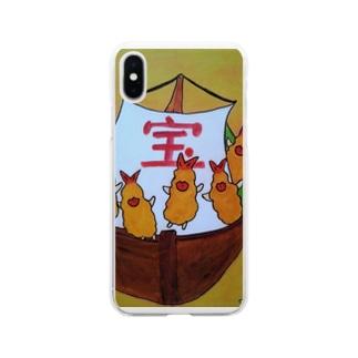 エビフライの宝船 Soft clear smartphone cases