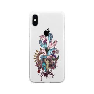 オオカミ Soft clear smartphone cases