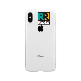 Rocks(緑) Soft clear smartphone cases