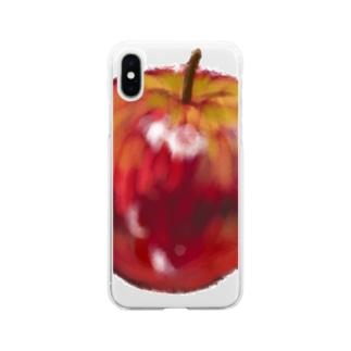 りんごをかきたくなるのはなぜ Soft clear smartphone cases