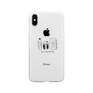 文房具たち Soft clear smartphone cases