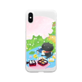sagaoujiのおはなみピクニック Soft clear smartphone cases