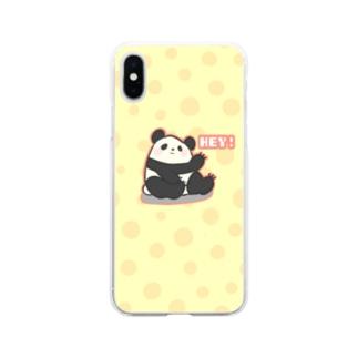 陽気なパンダ🐼 Soft clear smartphone cases