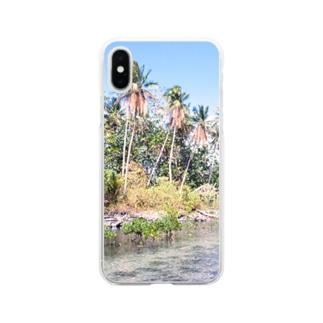 ミクロネシア:ナンマトル遺跡の風景写真 Micronesia: Nan Madol / Pohnpei Soft clear smartphone cases