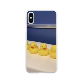 アヒルひよこ Soft clear smartphone cases