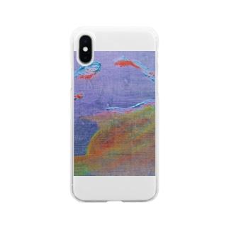 ねむねむ Soft clear smartphone cases