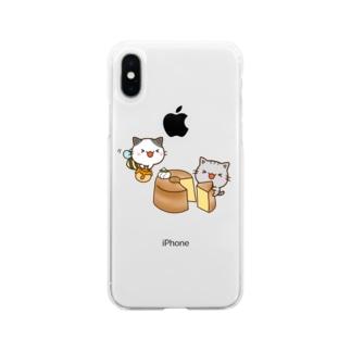ちびねこ Soft clear smartphone cases