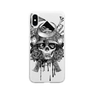 骷髏武士スマホケース Soft clear smartphone cases