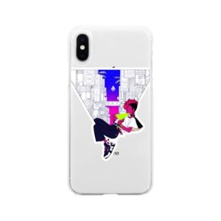 看板と洋 Soft clear smartphone cases