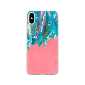 kiyoraの冬が溶ける春 Soft clear smartphone cases