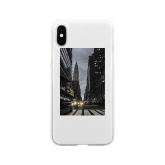 マンハッタン Soft clear smartphone cases