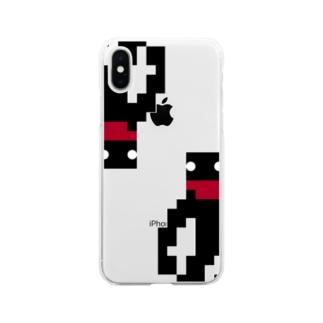 てなが.jpのドットてながくんDA Soft clear smartphone cases