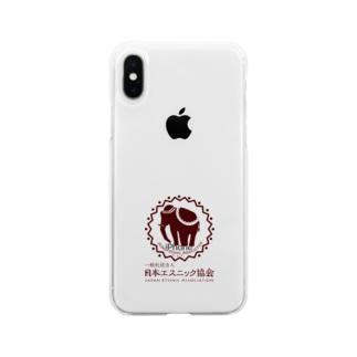 日本エスニック協会 ロゴマークver. Soft clear smartphone cases