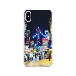 新世界の街 Soft clear smartphone cases