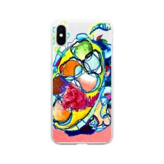 mikoのどりゃどりゃドリアン Soft clear smartphone cases