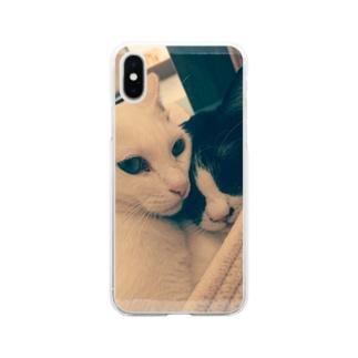 猫ちゃんず Soft Clear Smartphone Case