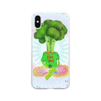 ブロッコリー星人 Soft clear smartphone cases