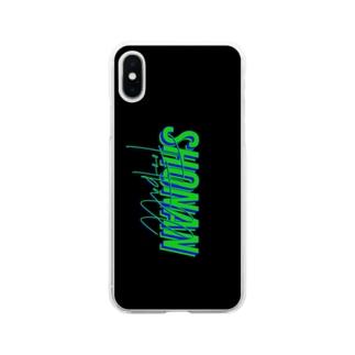 サッカー 湘南 (Black) 自作オリジナルスマホケース  Soft clear smartphone cases