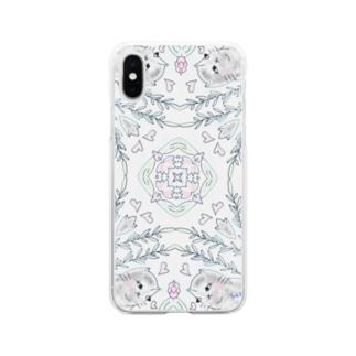 お告げの朝 Soft clear smartphone cases