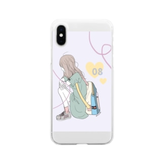 カラフルな女の子 Soft clear smartphone cases