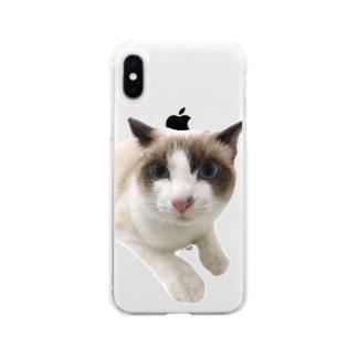にゃじろう(困) Soft Clear Smartphone Case