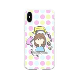 発芽玄米な寝ぐせ Soft clear smartphone cases