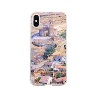 スペイン:セゴビア郊外の村の風景 Spain: view of a village near around Segovia Soft clear smartphone cases