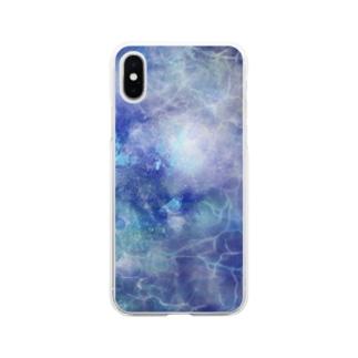 青水(深ver) Soft Clear Smartphone Case