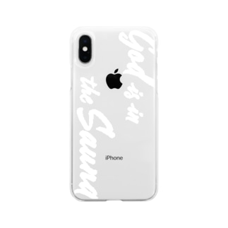 iPhoneケース・白 Soft clear smartphone cases