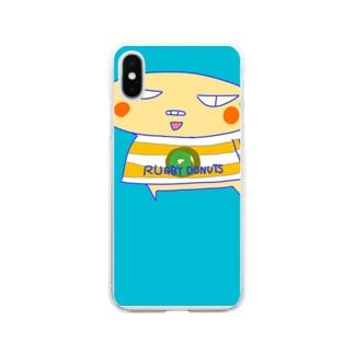 ラグビードーナツ🍩 Soft clear smartphone cases