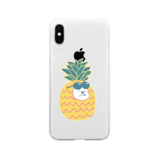 MINI BANANA パイナップルゴリラの子 Soft clear smartphone cases