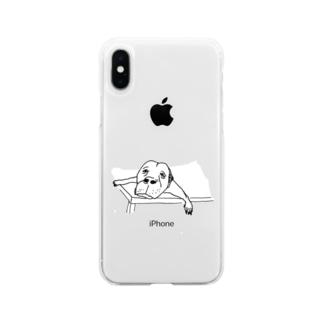 勘弁してくださ〜い Soft clear smartphone cases