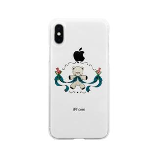 しばられくまちゃん Soft clear smartphone cases