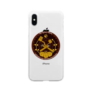 ブレーキハンドルワッペン風(アプト式バージョン) Soft clear smartphone cases