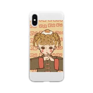 インスタントラーメン娘 Soft clear smartphone cases