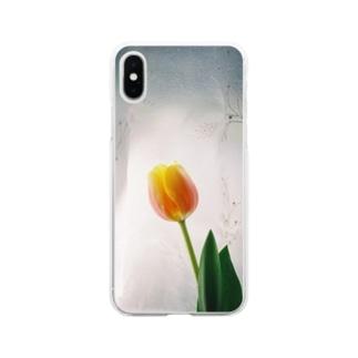 チューリップ Soft clear smartphone cases