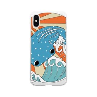 甚兵衛鮫 Soft clear smartphone cases