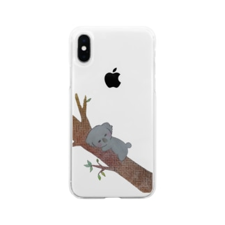 繋がりコアラ Soft clear smartphone cases