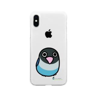 LOVEBIRD BOTAN 前向き Soft clear smartphone cases
