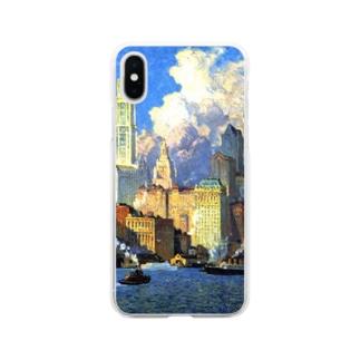 世界の絵画アートグッズのコリン・キャンベル・クーパー 《ハドソン河畔》 Soft clear smartphone cases