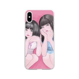 ギャラ飲みで稼ぐタイプの女子大生 Soft clear smartphone cases